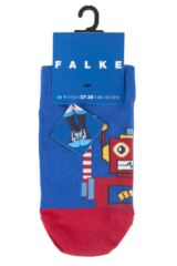 Boys 1 Pair Falke Robot Cotton Socks Product Shot