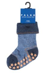 Babies 1 Pair Falke Denim Catspad Socks with Grip Packaging Image