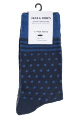 Mens 4 Pair Jack & Jones Bloom Cotton Socks Product Shot
