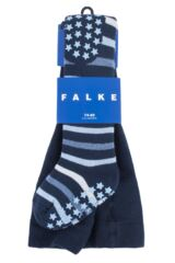 Baby Boys and Girls 1 Pair Falke Multi Stripe Tights with Grips Packaging Image