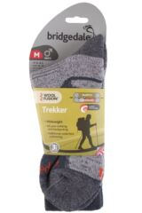 Mens 1 Pair Bridgedale Endurance Trekker Socks For Extended Trekking and Hiking Packaging Image