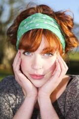 Ladies Bewitched Polka Dot Linen Effect Headband 25% Off