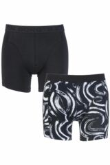 Mens 2 Pack Bjorn Borg Plain and Body Paint Patterned Boxer Shorts 33% OFF