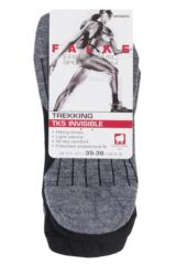 Ladies 1 Pair Falke TK5 Lightweight Cushioned Trekking Invisible Socks Packaging Image