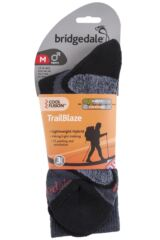 Mens 1 Pair Bridgedale X-Hale Trailblaze Socks With Impact And Protective Padding Product Shot