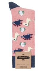 1 Pair Moustard Dinos Chilling Cotton Socks Packaging Image