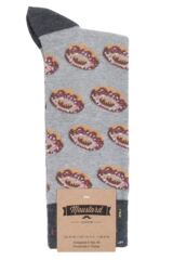 1 Pair Moustard Donut Cotton Socks Packaging Image