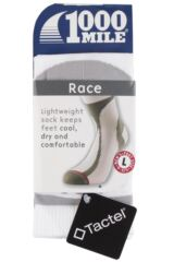 Mens 1 Pair 1000 Mile Race Socks Perfect for Running and Cycling Packaging Image