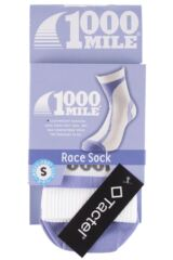 Ladies 1 Pair 1000 Mile Race Socks Perfect for Running and Cycling Packaging Image