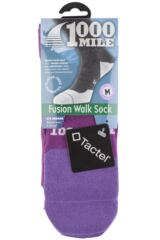 Ladies 1 Pair 1000 Mile Tactel Fusion Walking Socks Packaging Image