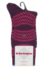 Ladies 1 Pair Burlington Mirror Illusion Cotton Socks Product Shot