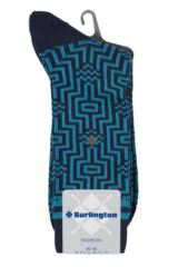 Mens 1 Pair Burlington Illusion Cotton Socks Product Shot