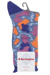 Ladies 1 Pair Burlington Painted Camouflage Cotton Socks Product Shot