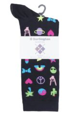 Ladies 1 Pair Burlington Festival Fun Cotton Socks Packaging Image