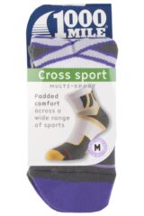 Ladies 1 Pair 1000 Mile Cross Sport Socks with Arch Support Packaging Image