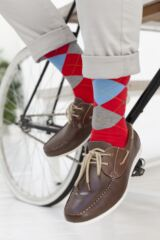 Mens 1 Pair Burlington King Argyle Cotton Socks Leading Image