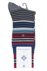 Mens 1 Pair Burlington Stripe Wool Socks Packaging Image