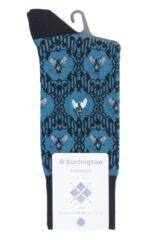 Mens 1 Pair Burlington The Fly Baroque Cotton Socks Packaging Image