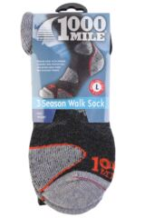 Mens and Ladies 1 Pair 1000 Mile 3 Seasons Merino Wool Walking Socks Packaging Image