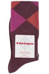 Ladies 1 Pair Burlington Marylebone Argyle Wool Knee High Socks Packaging Image