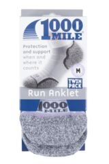 Mens and Ladies 2 Pair 1000 Mile Run Anklet Socks Packaging Image