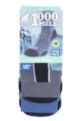 Mens and Ladies 2 Pair 1000 Mile Trek Socks Packaging Image
