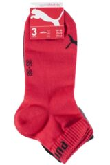 Mens and Ladies 3 Pair Puma Training Quarter Socks Packaging Image