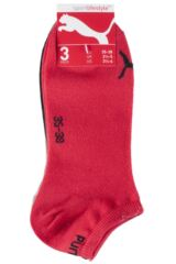 Mens and Ladies 3 Pair Puma Invisible Sneaker Socks Packaging Image