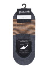 Mens 1 Pair Pantherella Sienna Striped Egyptian Cotton Footlet Socks Packaging Image