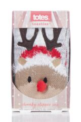 Boys and Girls 1 Pair Totes Chunky Christmas Novelty Slipper Socks Packaging Image