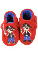 Boys 1 Pair Totes Tots Pirate Slippers With Grip 50% OFF
