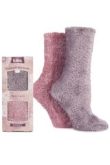 Ladies 2 Pair Totes Supersoft Bed Socks In 2 Colours