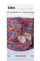 Ladies 1 Pair Totes Cable Knit Fleece Lined Chunky Socks Packaging Image