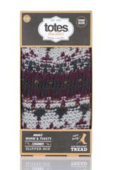 Mens 1 Pair Totes Brushed Fairisle Fleece Socks Packaging Image