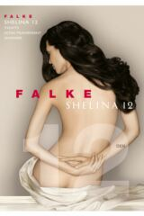 Ladies 1 Pair Falke Shelina 12 Denier Ultra Transparent Tights With Shimmer Packaging Image