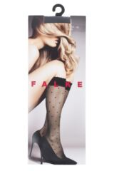 Ladies 1 Pair Falke Dots Knee High Socks Packaging Image