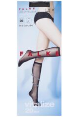 Ladies 1 Pair Falke 20 Denier Leg Vitalizer Knee Highs Product Shot
