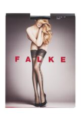 Ladies 1 Pair Falke Enchained Lace Top Hold Ups Packaging Image