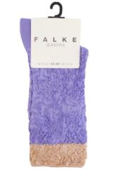 Ladies 1 Pair Falke Shiny Ornament Lacy Brocade Socks Product Shot