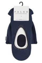 Ladies 1 Pair Falke Cosy Ballerina Slipper Socks with Carry Pouch Packaging Image