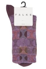 Ladies 1 Pair Falke Large Dots Cotton Blend Socks Product Shot