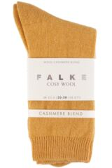Ladies 1 Pair Falke Cosy Wool and Cashmere Socks Packaging Image