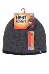 Mens 1 Pack Heat Holders Contrast Thermal Hat Packaging Image
