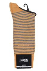 Mens 1 Pair BOSS Marc Striped Combed Cotton Socks Packaging Image