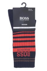 Mens 1 Pair BOSS Ribbed Combed Cotton Sports Socks Packaging Image