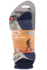 Mens 1 Pair Bridgedale Active Light Hiker Cotton and Coolmax Socks For Summer Hiking Packaging Image
