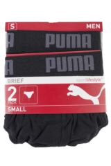 Mens 2 Pack Puma Basic Everyday Cotton Briefs Packaging Image