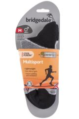 Mens 1 Pair Bridgedale Multisport Cushioned Merino Wool Socks Product Shot