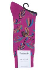 Mens 1 Pair Pantherella Tuvalu Cotton Lisle Floral Socks Packaging Image