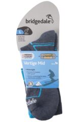 Mens 1 Pair Bridgedale Vertige Midweight Over the Calf Merinofusion Ski Socks Packaging Image
